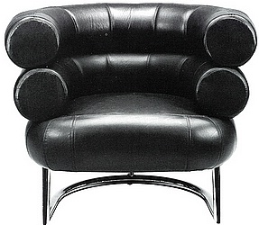 fauteuil bibendum par eileen gray. Black Bedroom Furniture Sets. Home Design Ideas