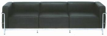 canap lc3 trois places par le corbusier. Black Bedroom Furniture Sets. Home Design Ideas