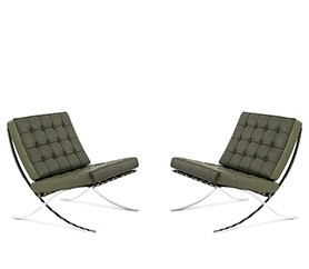 2x Barcelona Sesse -  Ludwig Mies van der Rohe