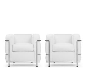 lc2 fauteuils canap lc2 trois places chaise de salon et ottomane xl lc3 canap deux places. Black Bedroom Furniture Sets. Home Design Ideas