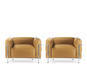 2x LC3 Armchair by Le Corbusier