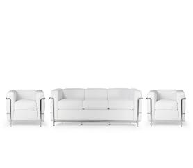 lc2 sessel le corbusier runder tulip tisch lc2 dreisitzer lc4 liege pony und andere bauhaus. Black Bedroom Furniture Sets. Home Design Ideas