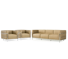 Zwei LC3 Armchair + LC3 Three Seater - Le Corbusier