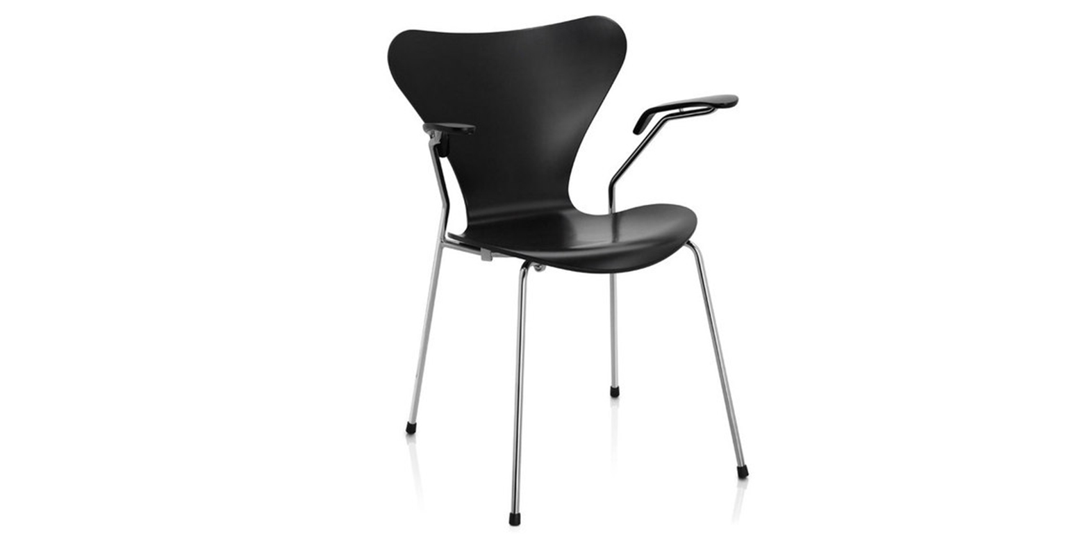 chaise 3207 par arne jacobsen. Black Bedroom Furniture Sets. Home Design Ideas