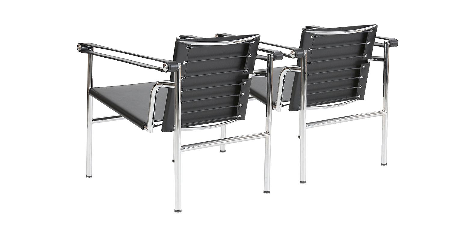 2 x silla basculante lc1 por le corbusier for Silla le corbusier