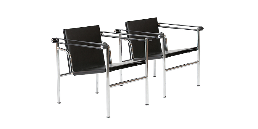 2 x LC1 Basculant Chair - Le Corbusier - 1928