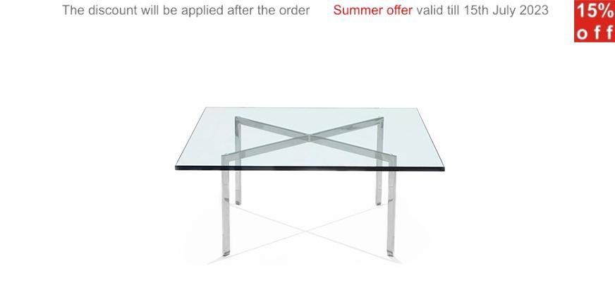 mesa barcelona por ludwig mies van der rohe. Black Bedroom Furniture Sets. Home Design Ideas