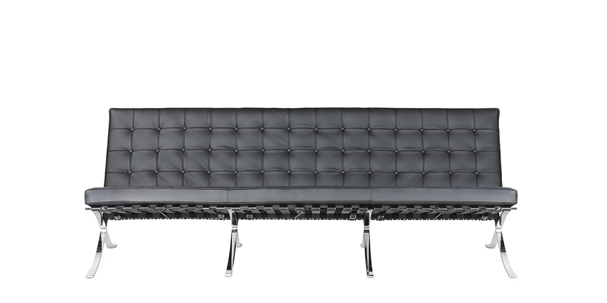 Barcelona Three Seater Sofa Mies Van Der Rohe
