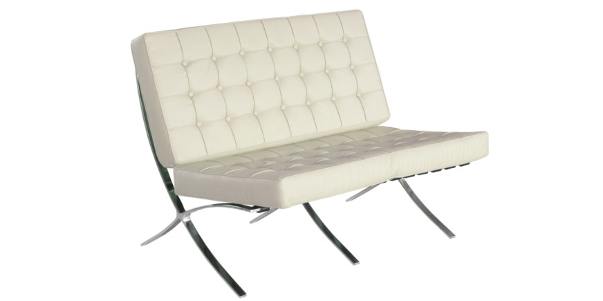 Admirable Barcelona Two Seater Sofa Mies Van Der Rohe Evergreenethics Interior Chair Design Evergreenethicsorg