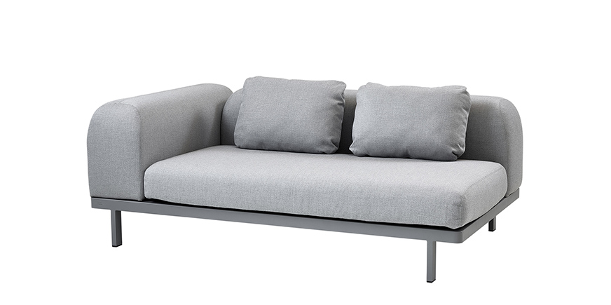 Zweisitzer Sofa Space von Cane Line - Steeldomus Workshop - 2017