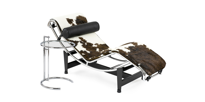 Corbusier LC4 Liege Pony Reproduktion + Adjustable table - Chaiselongue - Pony - 1928