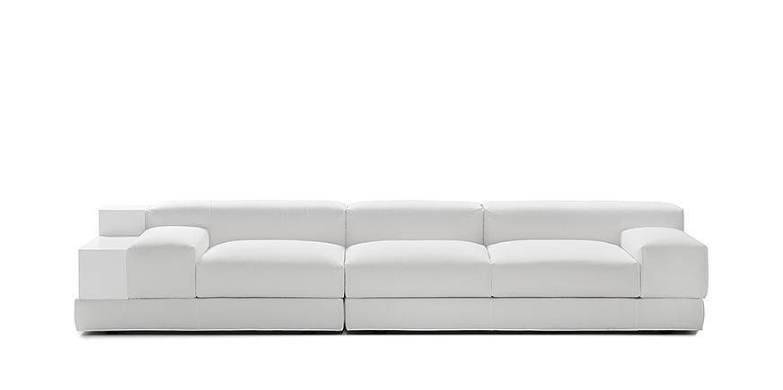 Design Three Seater Sofa Divano G101 with shelf - Steeldomus Workshop - 2014
