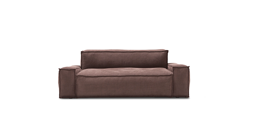 Design zweisitzer sofa davis by amura for Design sessel nachbau