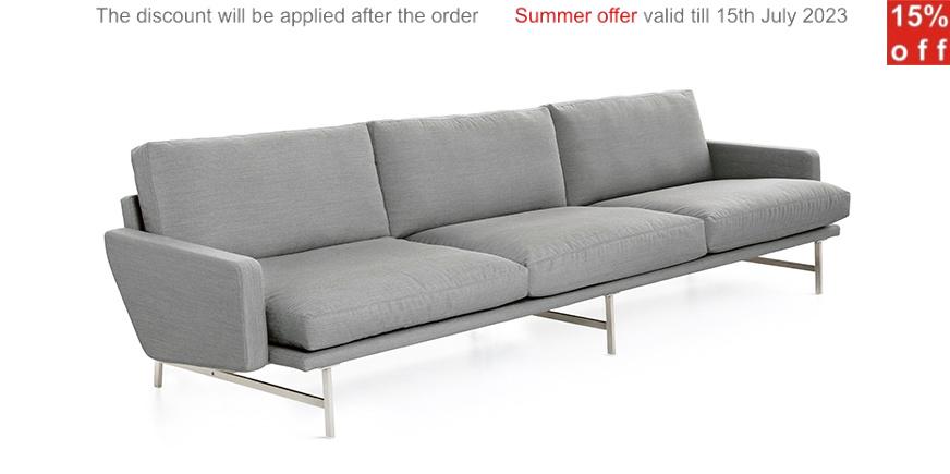 lissoni canap trois places. Black Bedroom Furniture Sets. Home Design Ideas