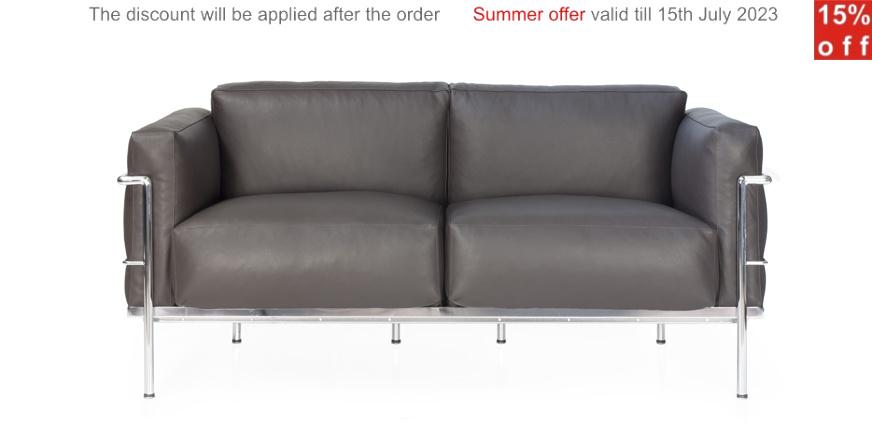 Grand confort zweisitzer le corbusier for Corbusier nachbau