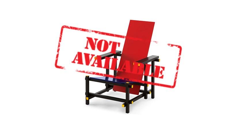 fauteuil rouge et bleu par gerrit thomas rietveld. Black Bedroom Furniture Sets. Home Design Ideas