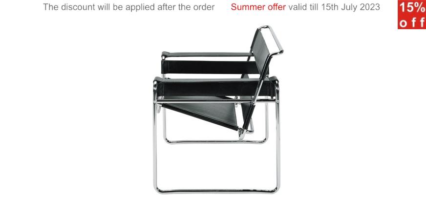 wassily sessel von marcel breuer. Black Bedroom Furniture Sets. Home Design Ideas