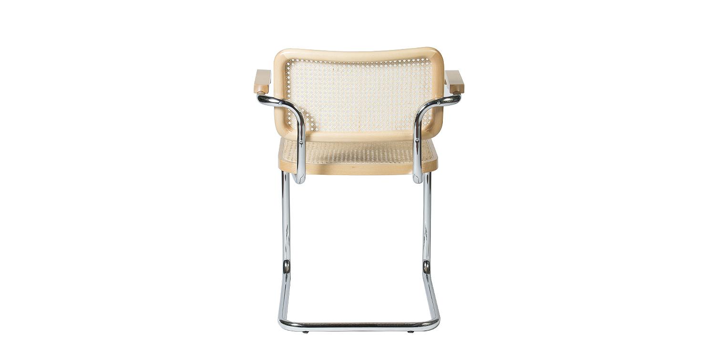chaise accoudoirs cesca par marcel breuer. Black Bedroom Furniture Sets. Home Design Ideas