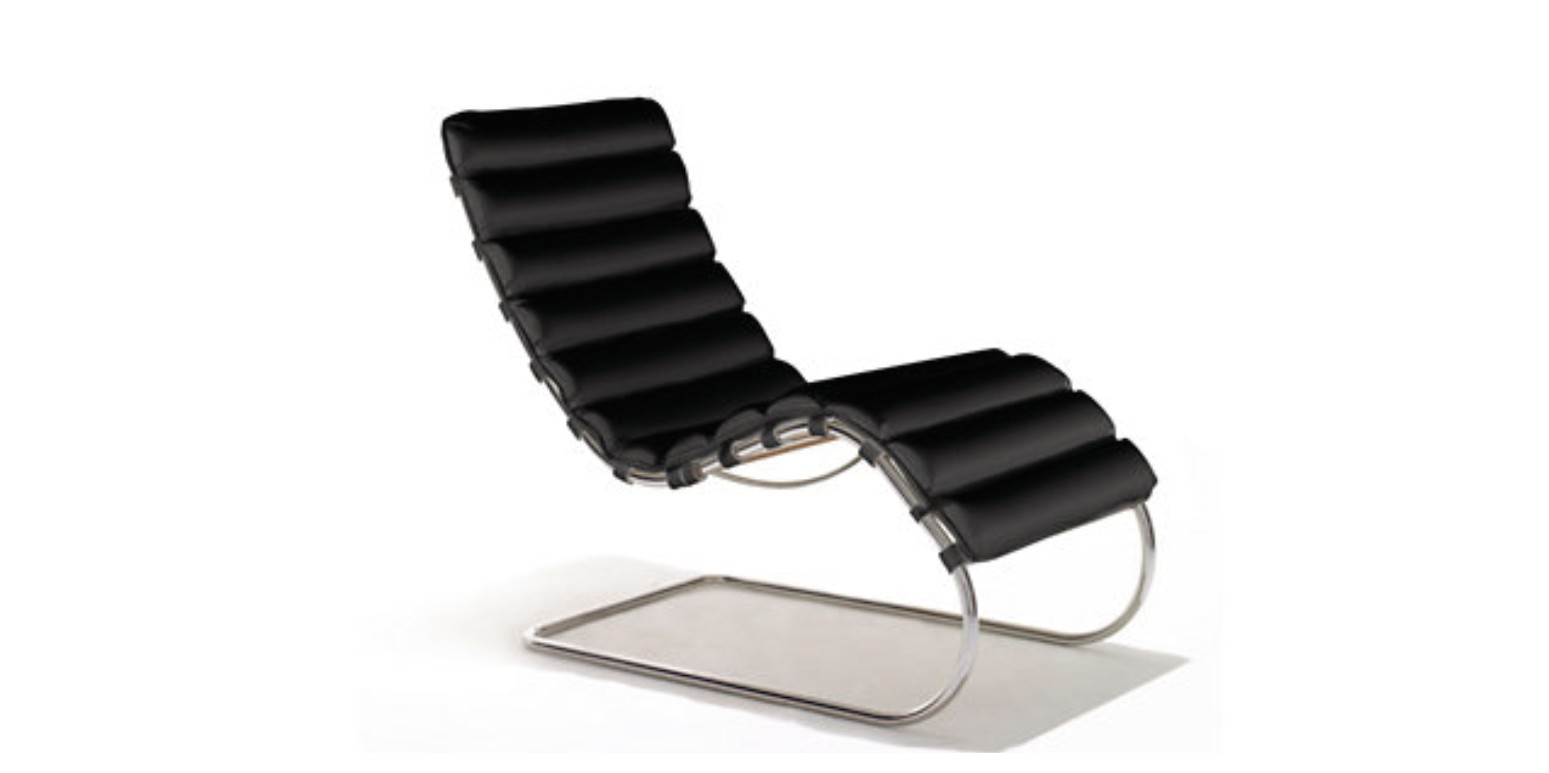 chaise par ludwig mies van der rohe. Black Bedroom Furniture Sets. Home Design Ideas