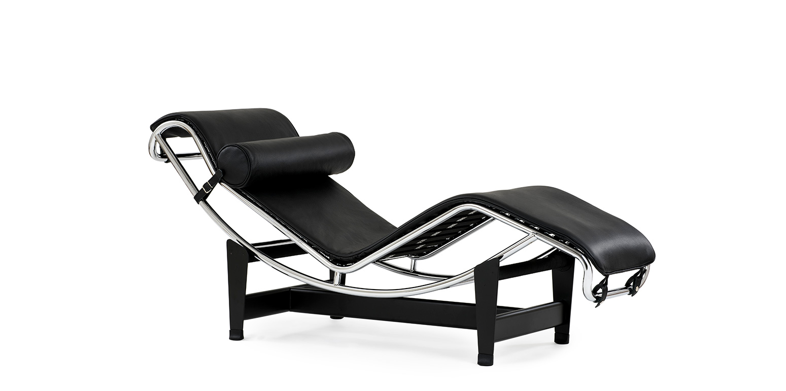 lc4 chaise longue reproductie van le corbusier. Black Bedroom Furniture Sets. Home Design Ideas