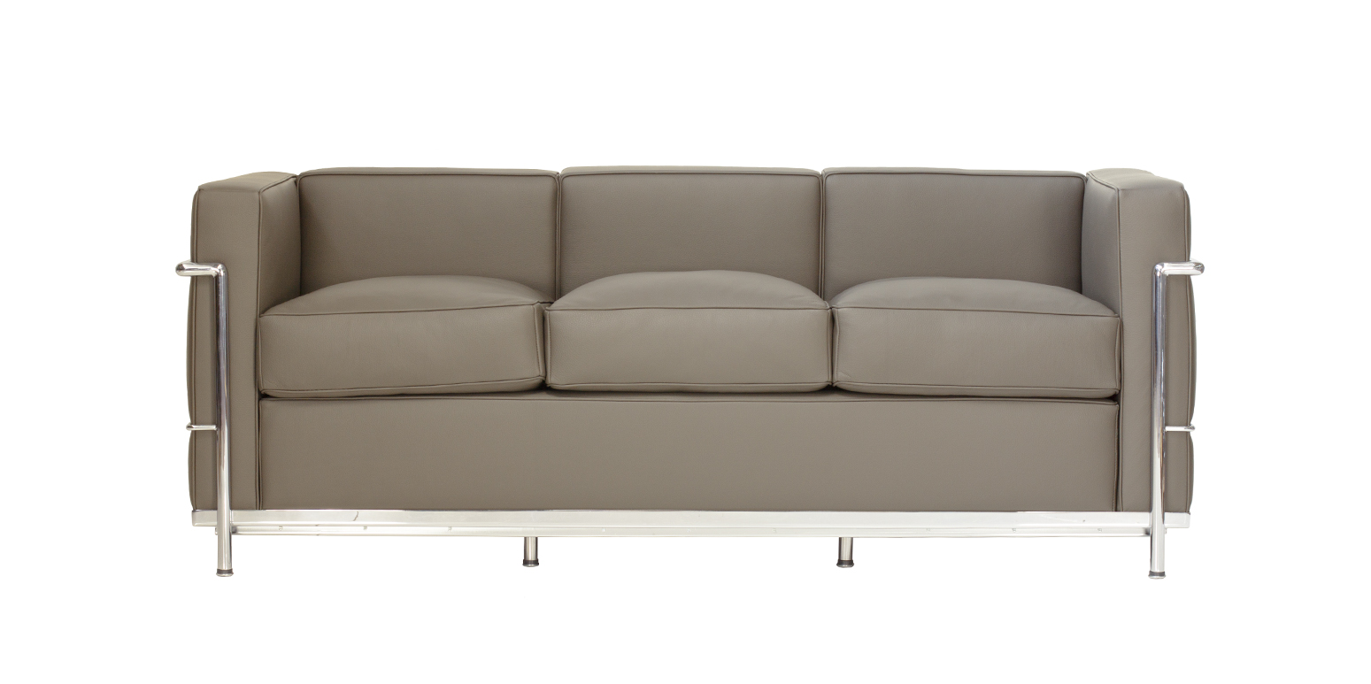 Stockware sales le corbusier canap lc2 trois places - Canape le corbusier lc2 ...