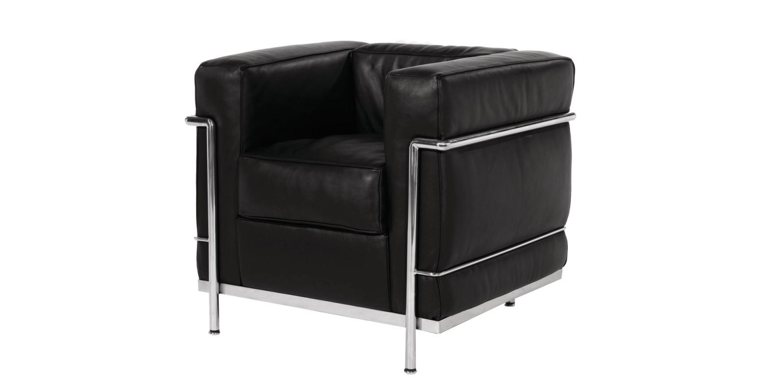 lc2 leunstoel van le corbusier. Black Bedroom Furniture Sets. Home Design Ideas