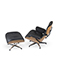 Spring Offer: Replica Lounge Chair en voetbank - Charles Eames - 1956
