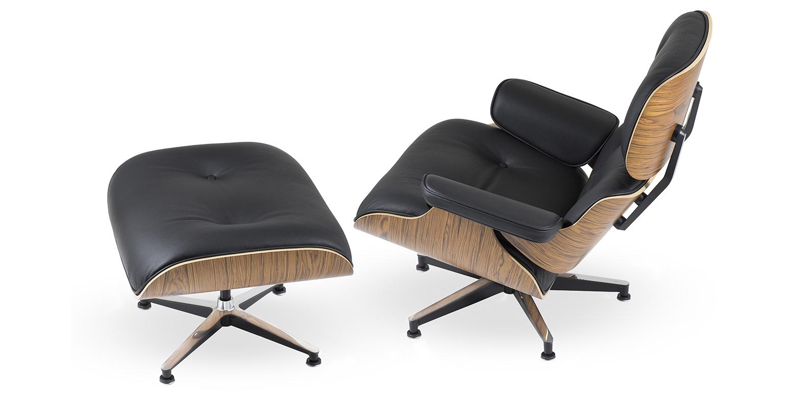 Nachbau charles eames lounge chair und ottoman for Eames tisch nachbau