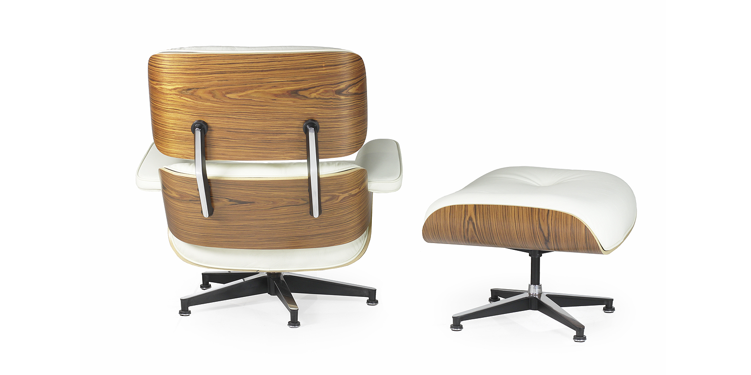 Nachbau charles eames lounge chair und ottoman xl for Eames tisch nachbau