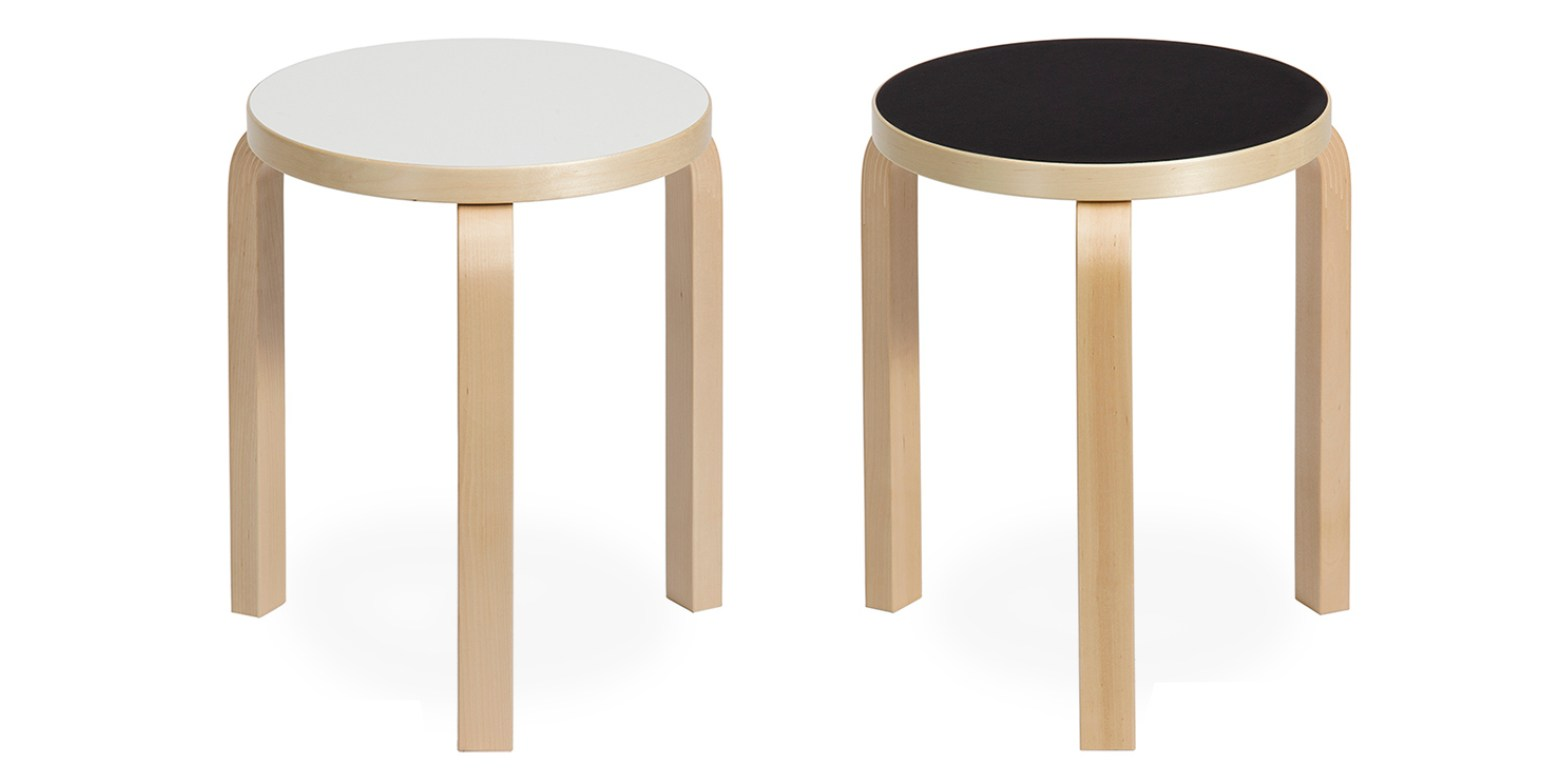 hocker von alvar aalto. Black Bedroom Furniture Sets. Home Design Ideas
