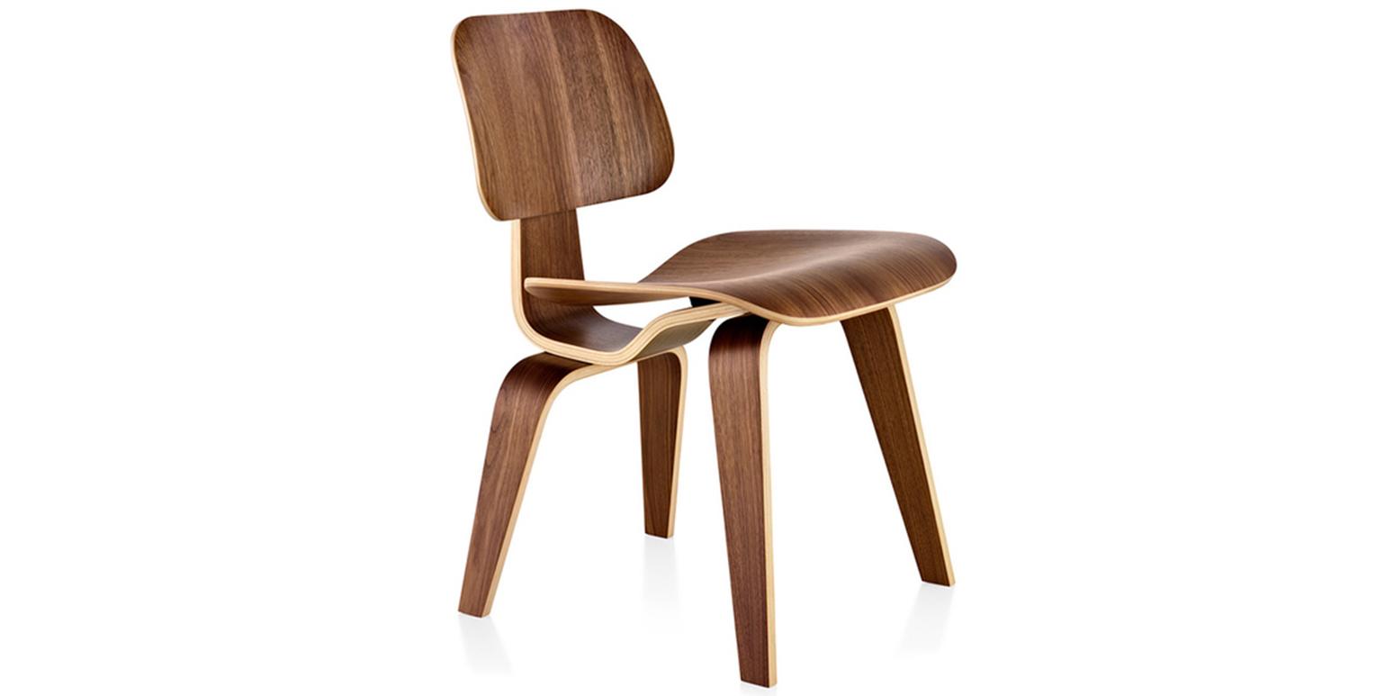 Gelaagd houten stoel van charles eames - Vat stoel ...