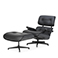 "Replica Lounge Chair and Ottoman ""Special Edition Black"" - Charles Eames - 1956"