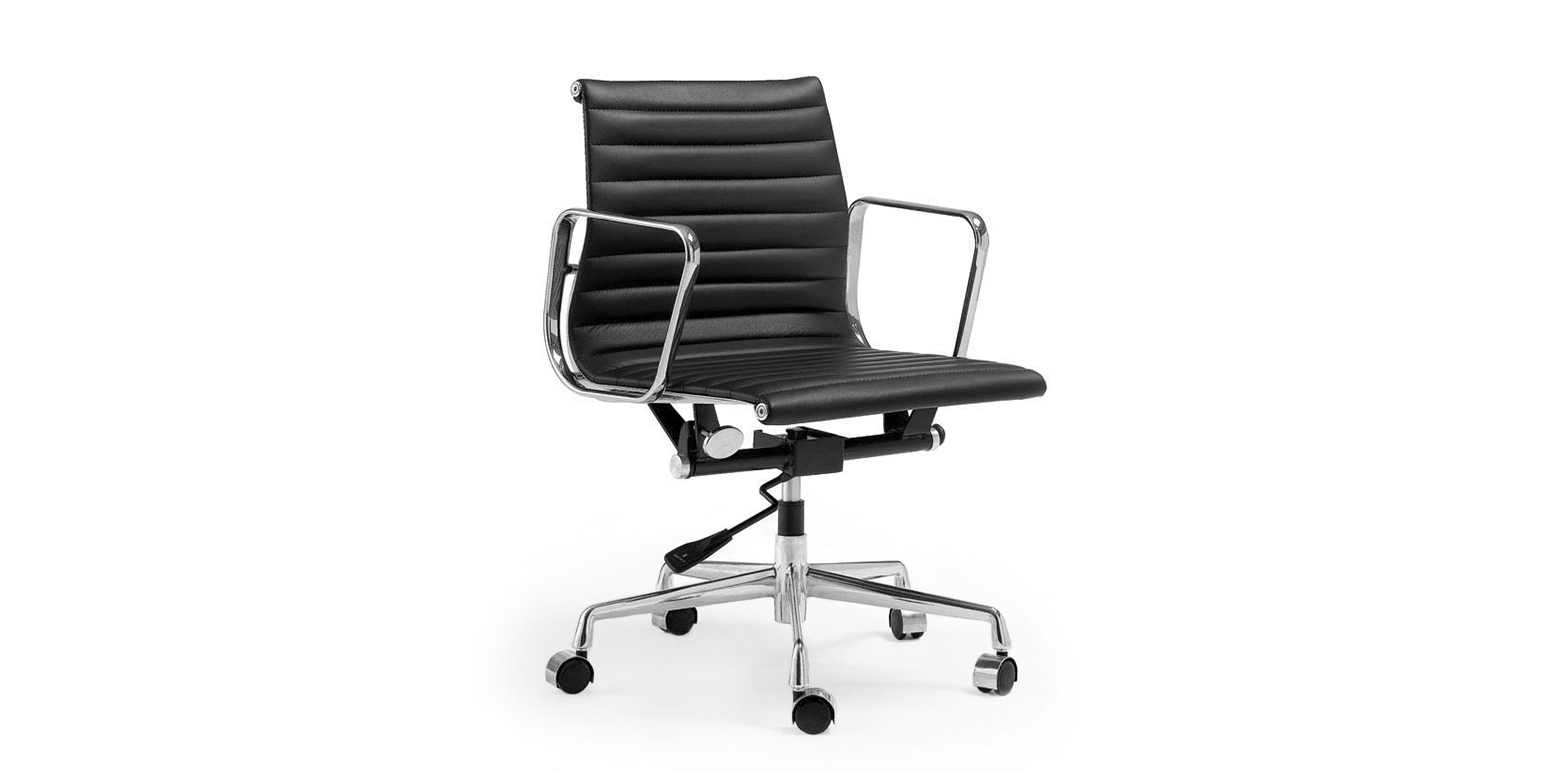 Eames alu chair ea 208 soft pad eames alu chair office for Eames alu chair nachbau