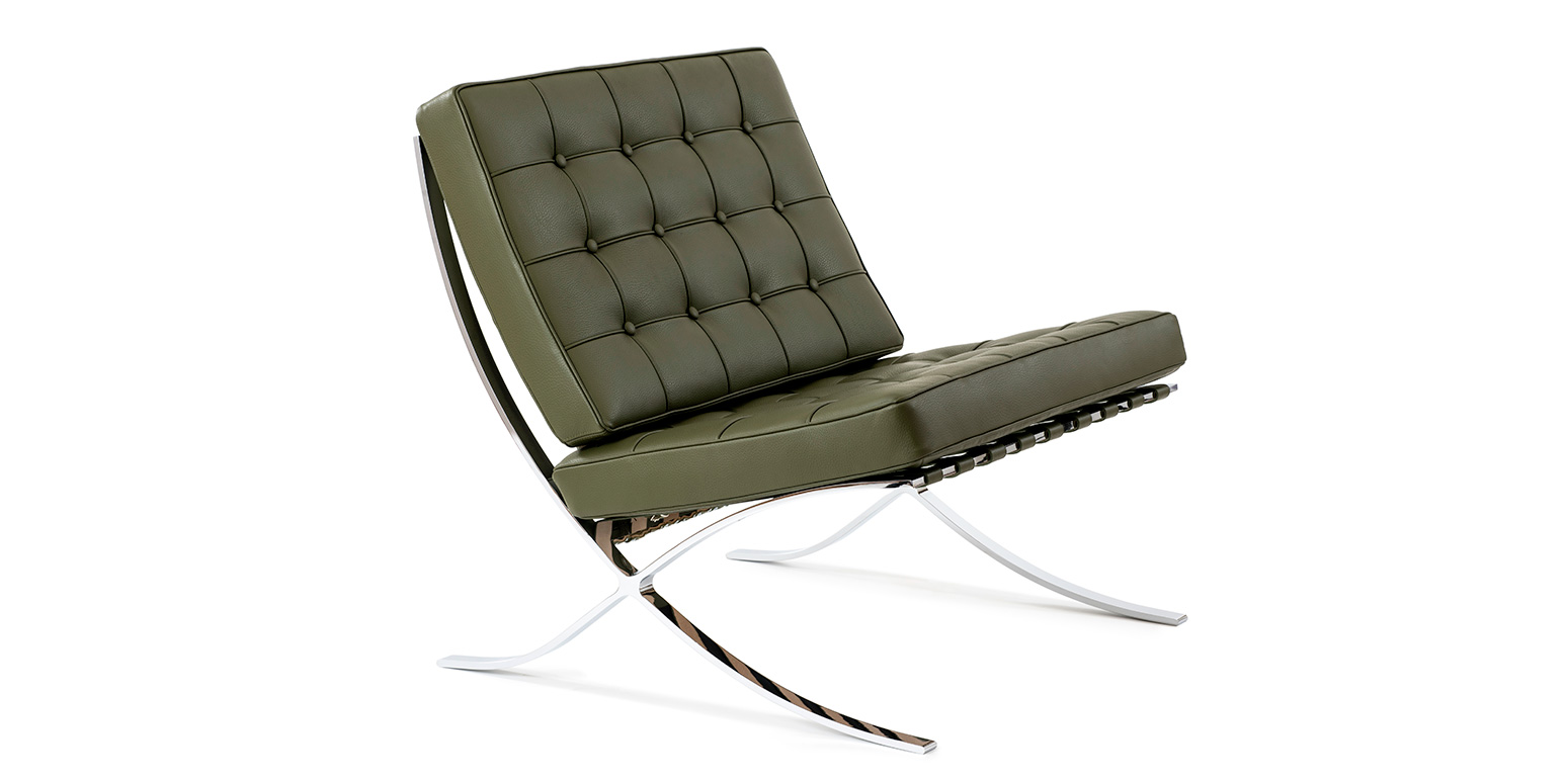 chaise barcelone reproduction par ludwig mies van der rohe. Black Bedroom Furniture Sets. Home Design Ideas