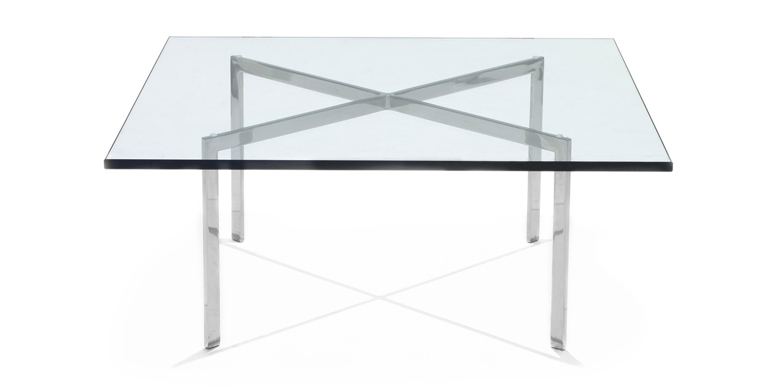 barcelona tafel van ludwig mies van der rohe. Black Bedroom Furniture Sets. Home Design Ideas