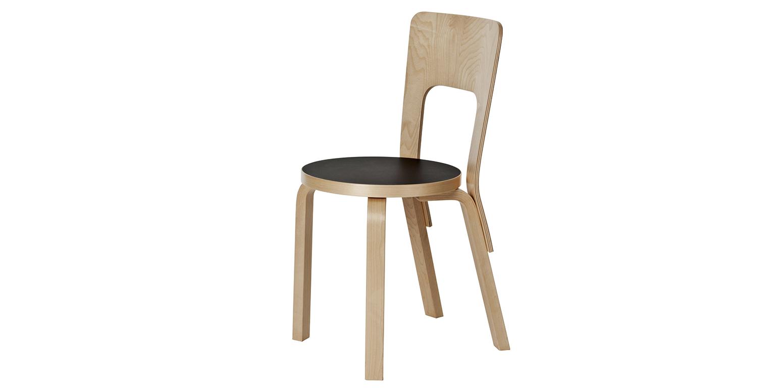stuhl 66 von alvar aalto. Black Bedroom Furniture Sets. Home Design Ideas
