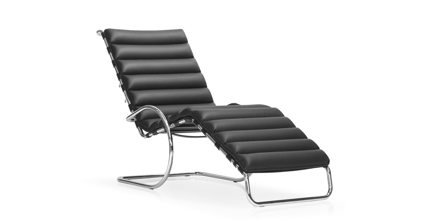 Chaise longue 242 van ludwig mies van der rohe for Chaise longue barcelona