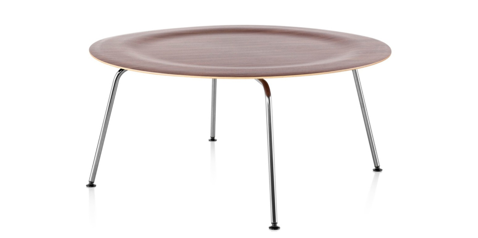 Ctm round coffee table charles eames for Table ronde charles eames