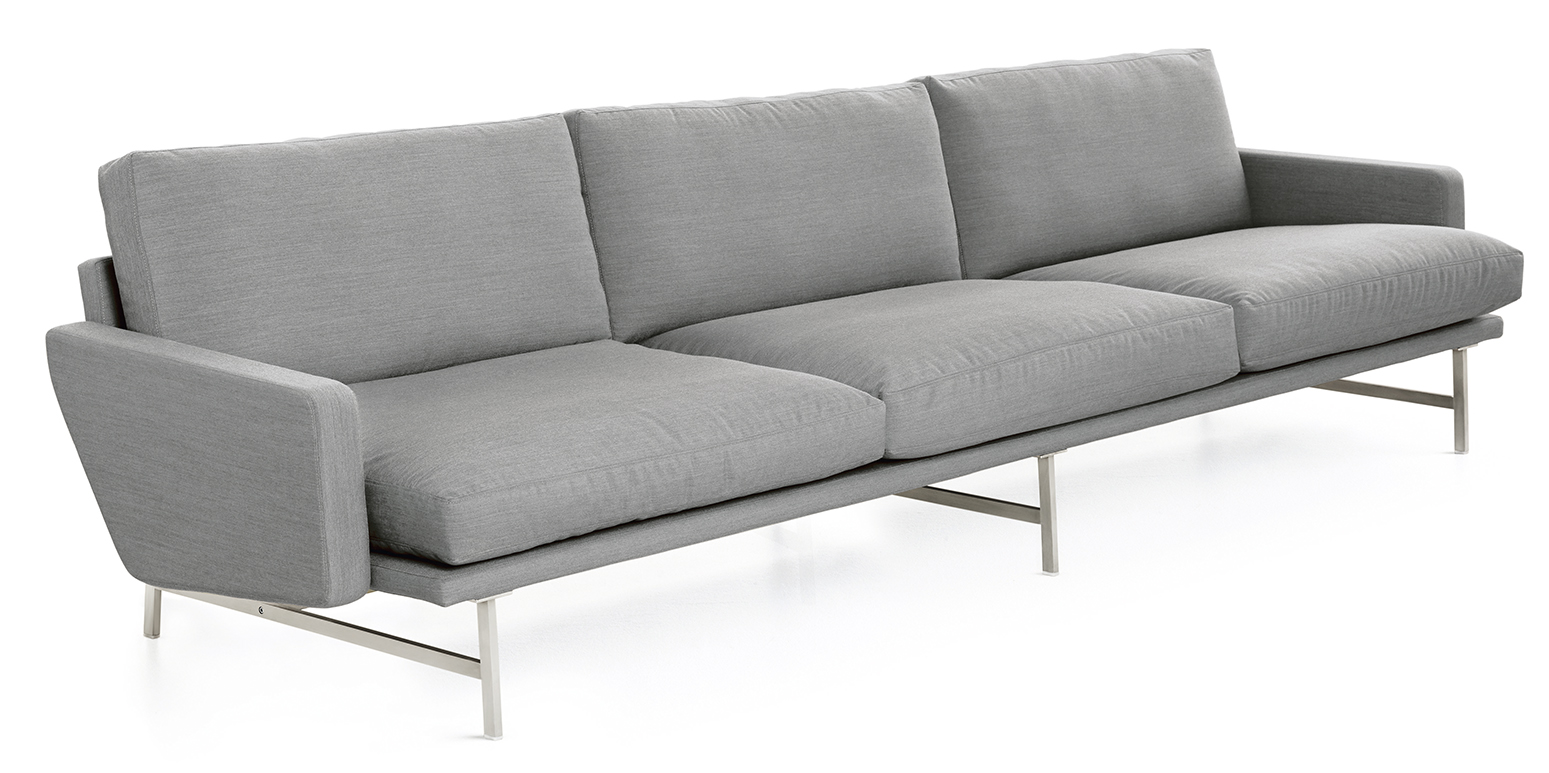 Lissoni dreisitzer for Barcelona sessel nachbau