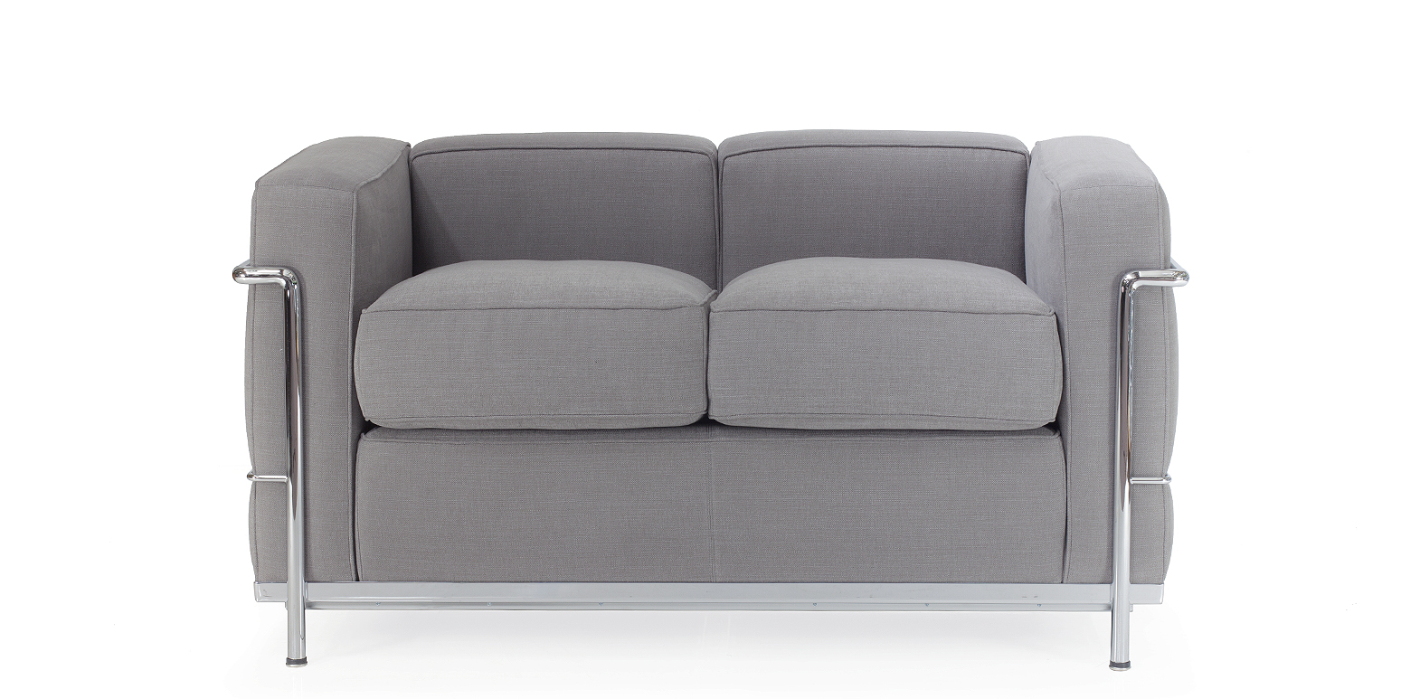 Lc2 zweisitzer sofa corbusier reproduktion for Zweisitzer sofa