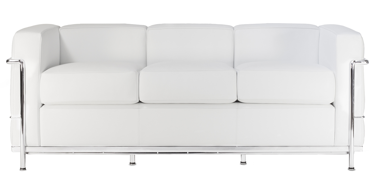 Lc2 three seater sofa by le corbusier Le corbusier lc2 sofa