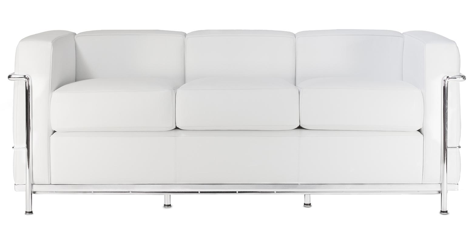 Lc2 dreisitzer sofa corbusier reproduktion for Corbusier nachbau