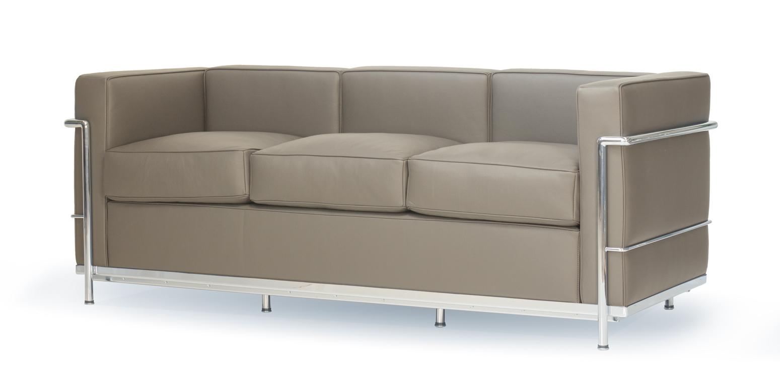 stockware sales lc2 tre personers sofa af le corbusier. Black Bedroom Furniture Sets. Home Design Ideas