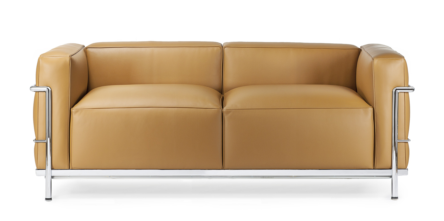 Lc3 To Personers Sofa Reproduktion Af Le Corbusier