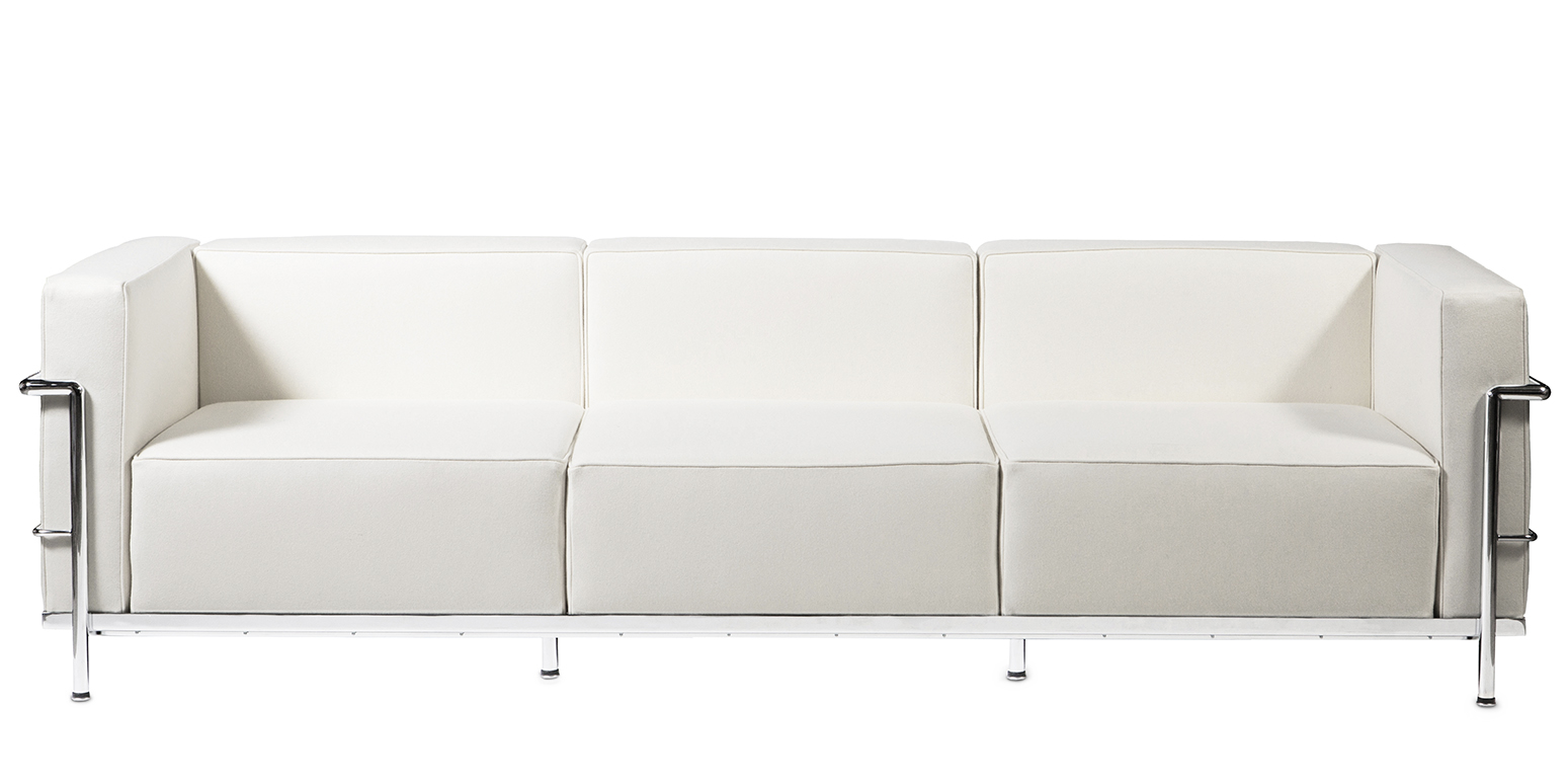 Stockware Sales Lc3 Three Seater Sofa Reproduction By Le Corbusier