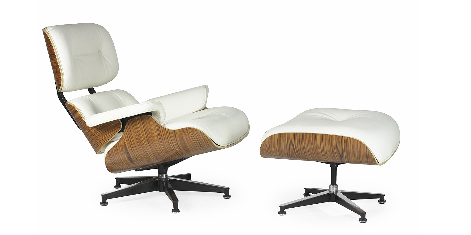 Replica Lounge Chair En Voetbank Xl