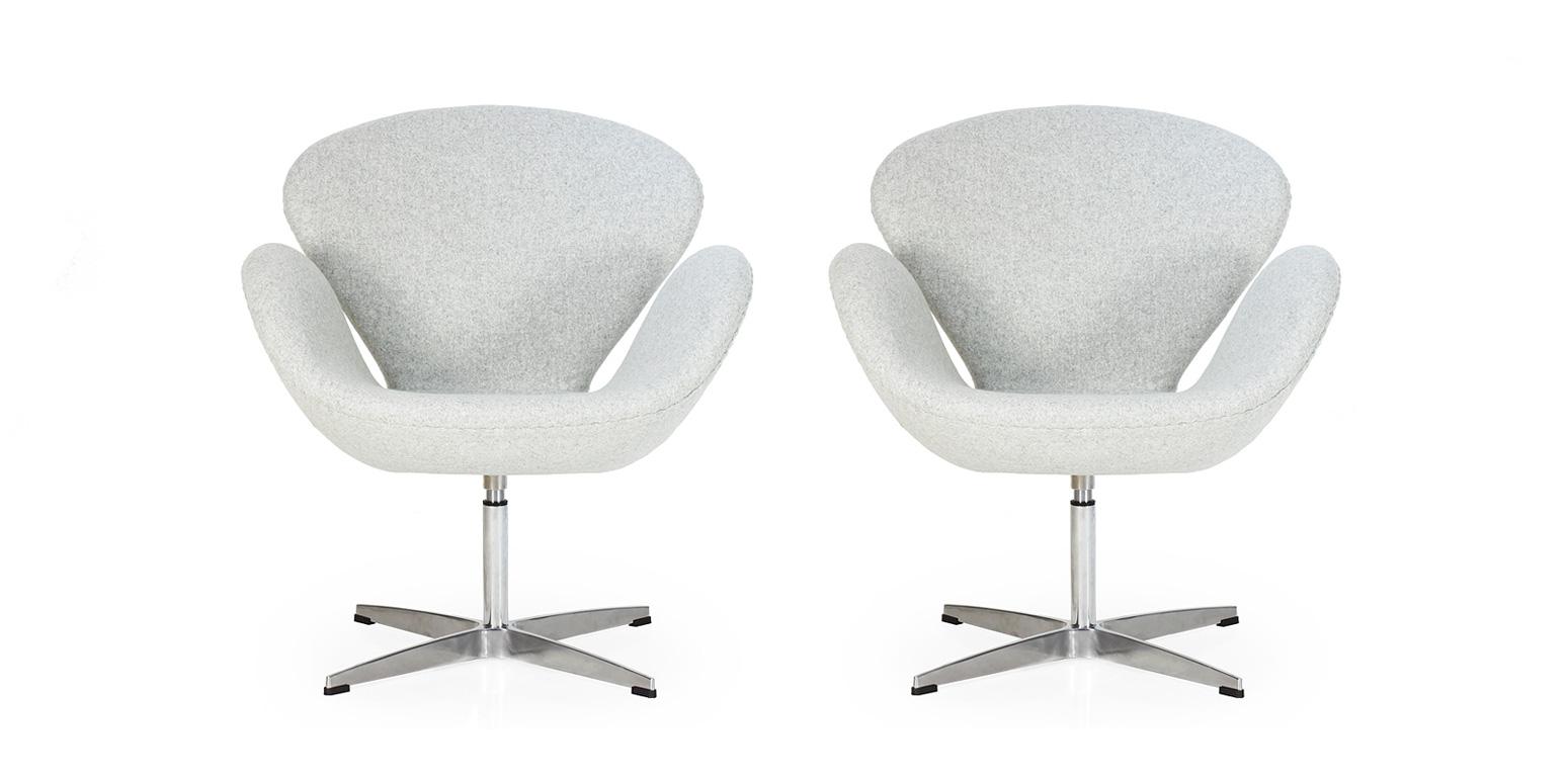 2 x swan sessel arne jacobsen. Black Bedroom Furniture Sets. Home Design Ideas