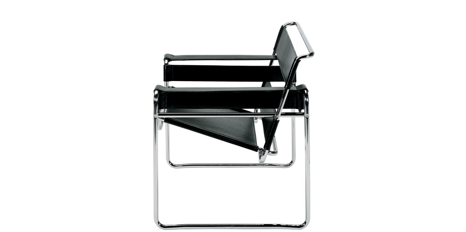fauteuil wassily par marcel breuer. Black Bedroom Furniture Sets. Home Design Ideas