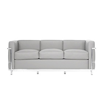 lc2 zweisitzer sofa corbusier reproduktion. Black Bedroom Furniture Sets. Home Design Ideas
