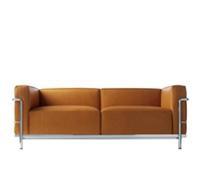 lc2 zweisitzer sofa corbusier reproduktion. Black Bedroom Furniture Sets. Home Design Ideas